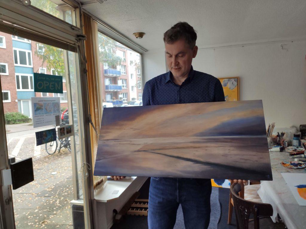 Jens-Peter-Tschuschke mit Bild das Meer