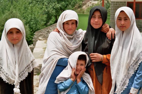 Mädchen im Bagrot Tal